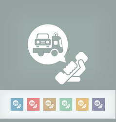 Wrecker call icon vector