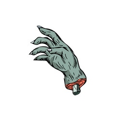Zombie Monster Hand Drawing vector image