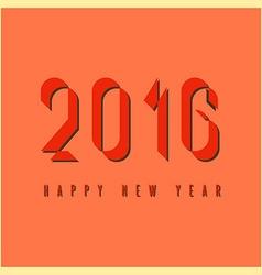2016 happy new year mockup graphic retro fire vector image vector image