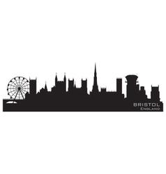 bristol england skyline detailed silhouette vector image