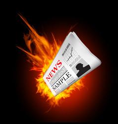 Hot news vector image