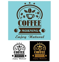 Morning coffee cup poster vector image vector image