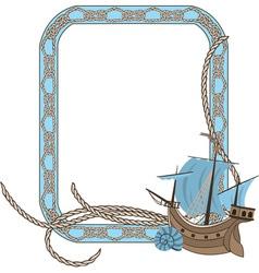 sea frame vector image vector image