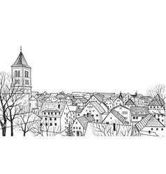 street view cityscape skyline medieval landscape vector image