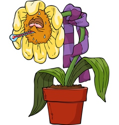 ailing flower vector image vector image