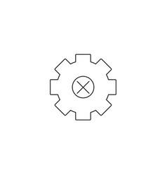 cogwheel gear icons delete sign symbols vector image vector image