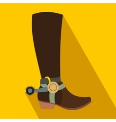 Cowboy boot flat icon vector image