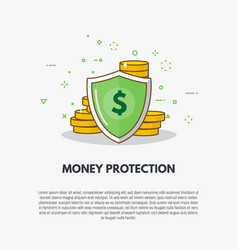 golden coins protection vector image