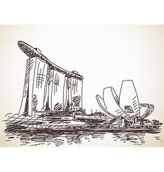 Marina Bay Sands vector image