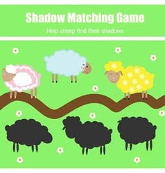 Match the shadow children game vector image vector image