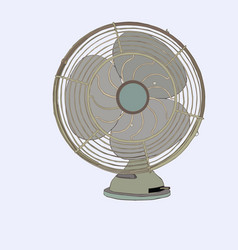 old vintage fan sketch vector image vector image