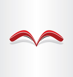 Red book abstract stylized design vector