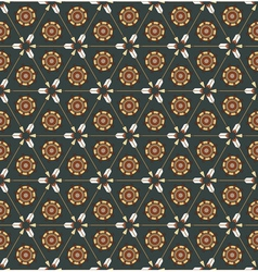 seamless pattern with arrows and ethnic symbols vector image vector image