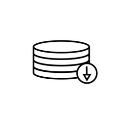 download from database icon vector image vector image