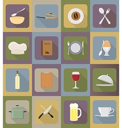 objects for food flat icons 19 vector image vector image