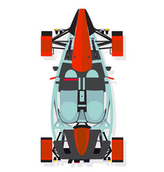 red sport car buggy top view in flat style vector image