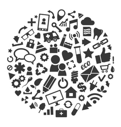 Social media background of the icons vector image