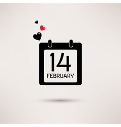 Valentines Day icon calendar with hearts vector image vector image