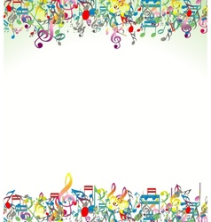 Abstract music notes background vector