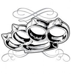 brass knuckle vector image vector image