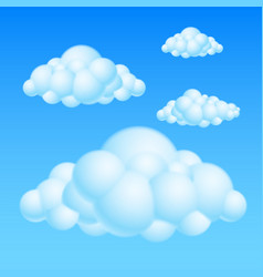 cartoon bubble clouds on white background for vector image vector image