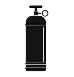 compressed gas container icon simple vector image