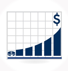 Financial rates higher upward on graph vector image vector image