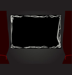 Silent movie projection vector
