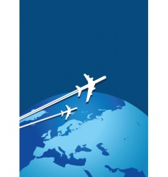 world flight vector image vector image