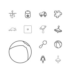 13 toy icons vector