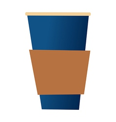 A cup is palced vector
