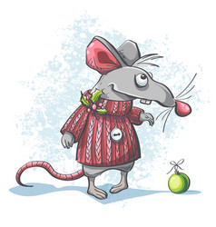 a cute cartoon mouse vector image