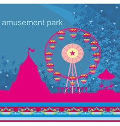 Abstract card - amusement park vector
