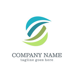 abstract letter s company logo vector image
