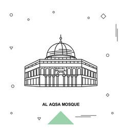 Al aqsa mosque vector