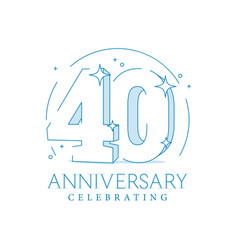 Anniversary 40 3d number twenty with sparkles vector