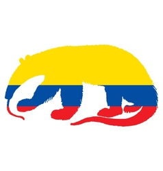 Anteater Ecuador vector image