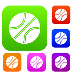 Basketball ball set collection vector