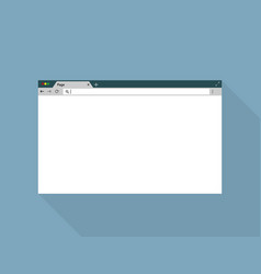 browser window on blue back ground flat style vector image