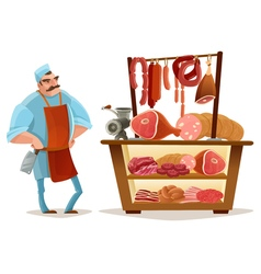 Butcher Cartoon Concept vector