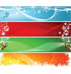 Christmas headers vector image