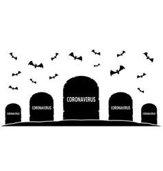 Coronavirus epidemic cemetery vector