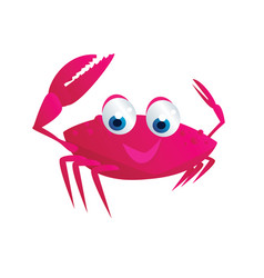 Cute crab vector