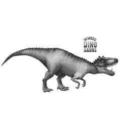 dinosaur in stippling technique vector image