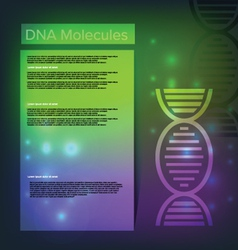 DNA Healthcare background vector image