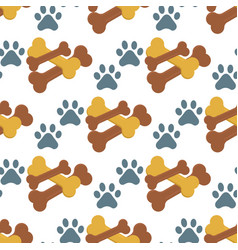 Dog chew bone care biscuit animal food puppy vector