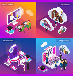 e-learning isometric concept vector image