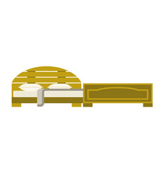 Exclusive sleeping furniture design bedroom vector