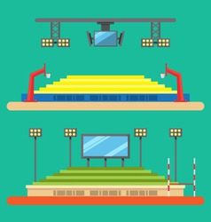 Flat design of sport stadium vector