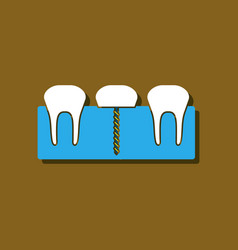 Flat icon design collection teeth and gum in vector